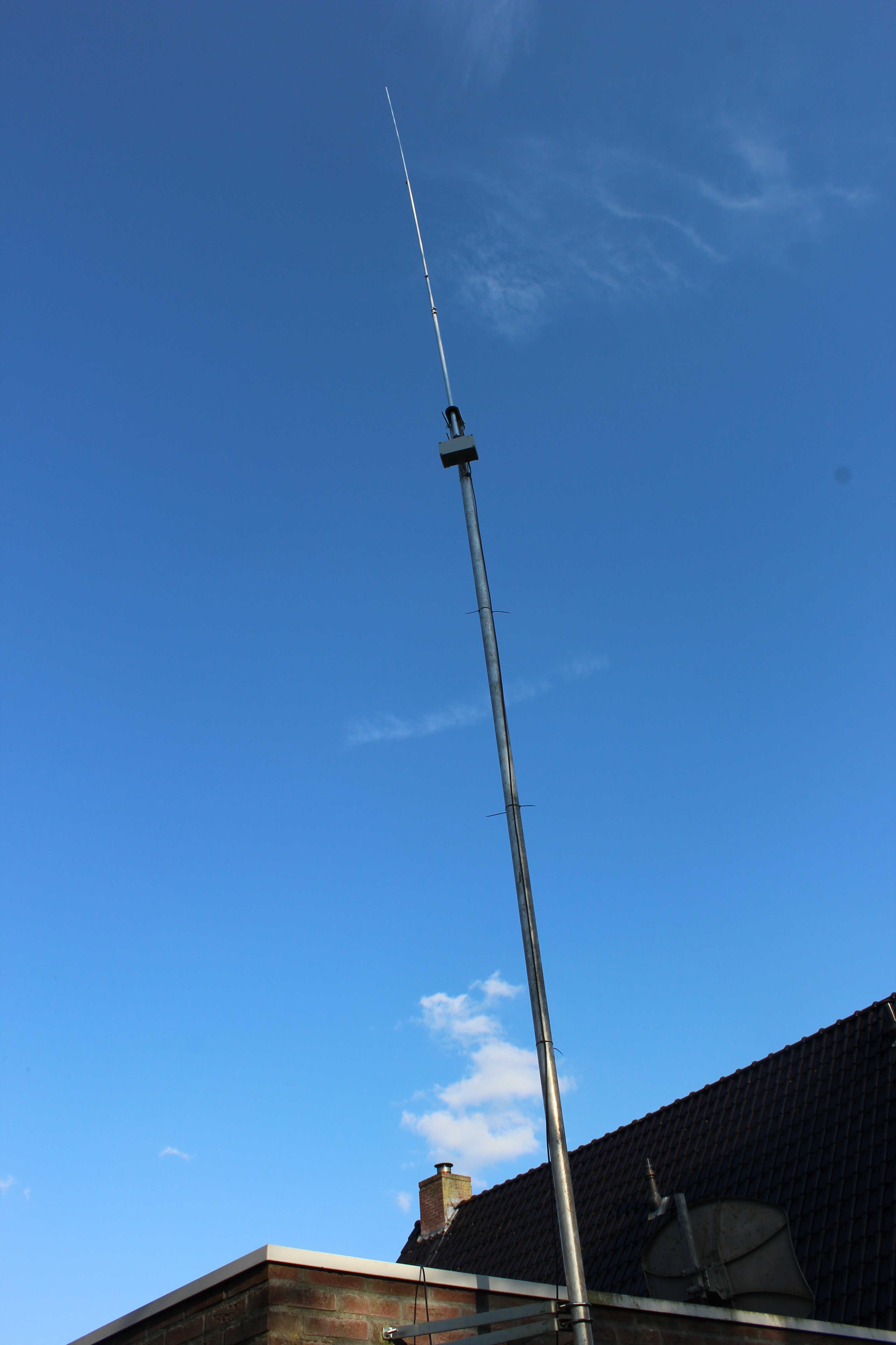 Antenna and mast